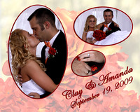 Daugherty Wedding 8x10 collages